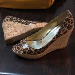 Leopard Guess Wedges
